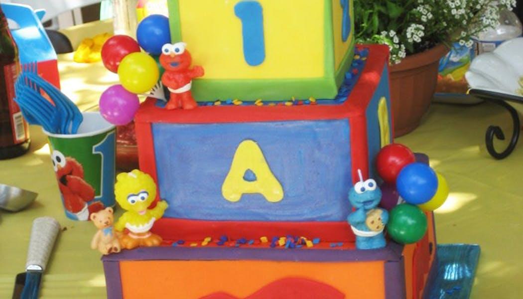 Le gateau d'anniversaire Muppet