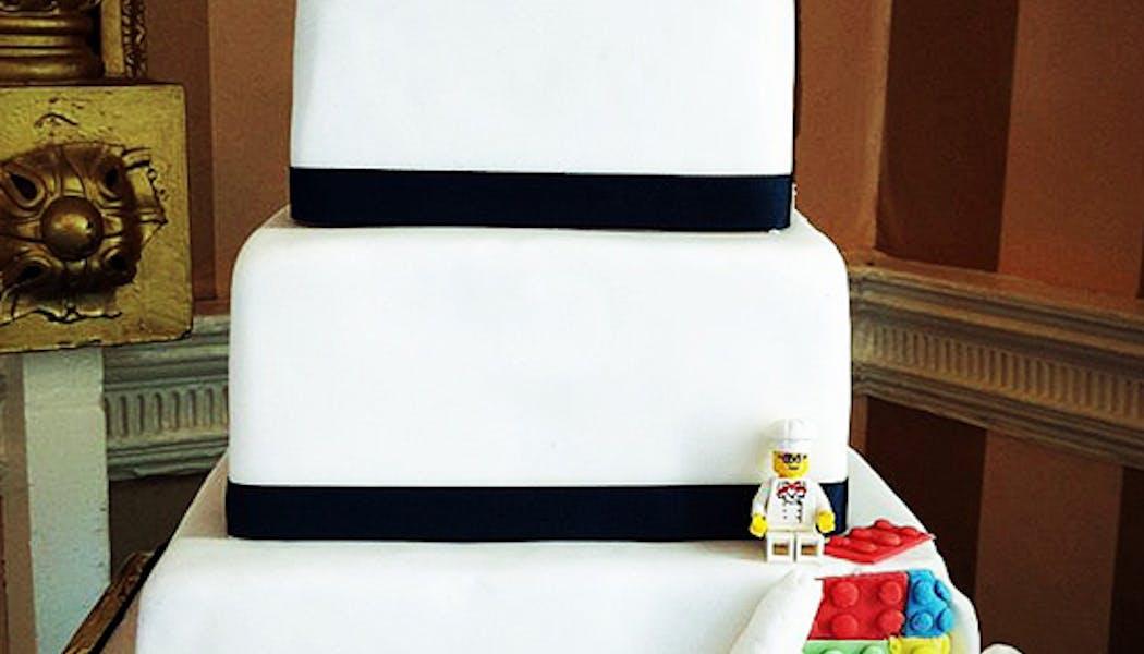 Le gâteau de mariage Lego carré