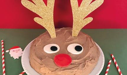 Le gâteau de Noël du Renne Rudolph