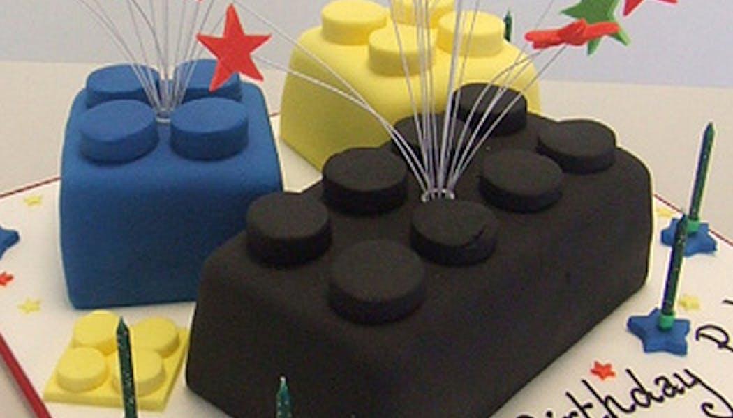 Le gâteau Lego briques