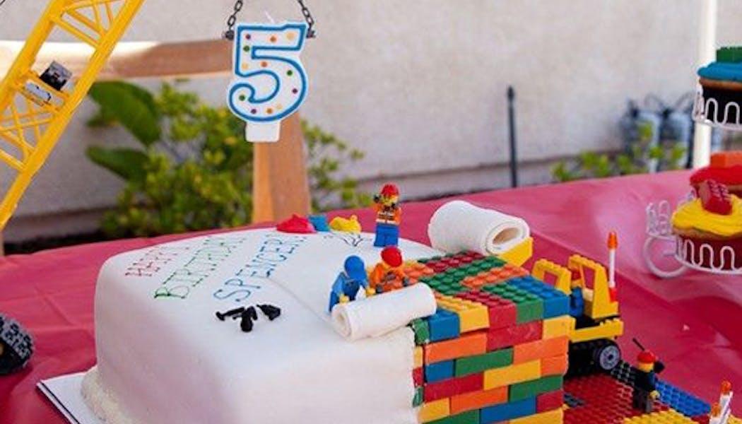 Le gâteau Lego chantier