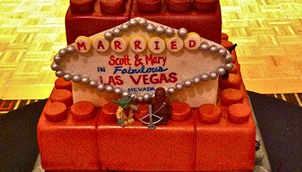 Le gâteau Lego Las Vegas