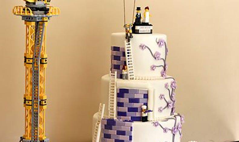 Le gâteau Lego mariage de luxe