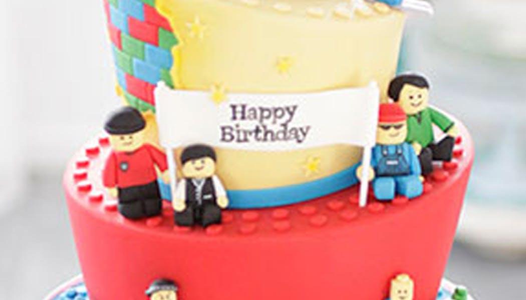 Le gâteau Lego penché