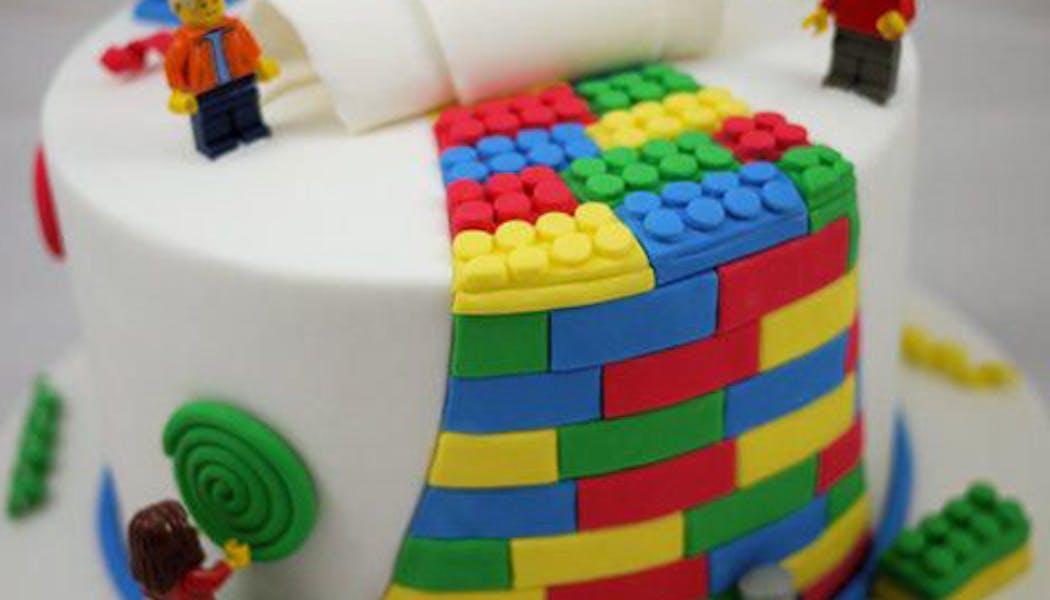Le gâteau Lego rond