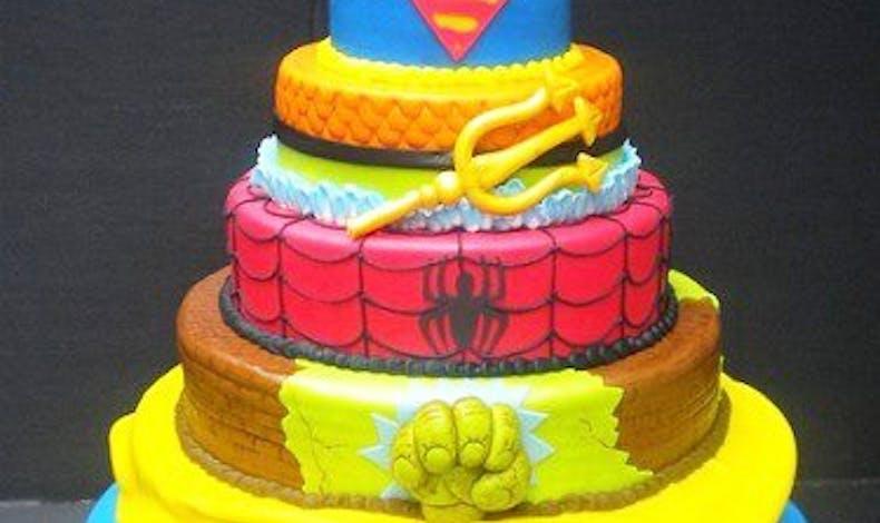 Le gateau super-héros