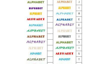 Le jeu de l'alphabet