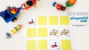 Le jeu de Mémory Playmobil 123 à imprimer