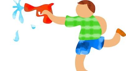 jeu pistolet à eau