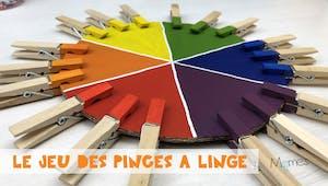 Le jeu des pinces à linge (inspiration Montessori)