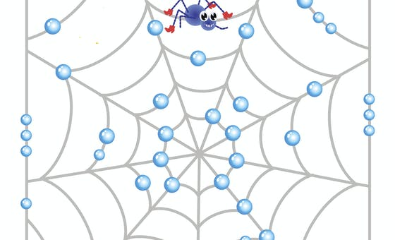 Le labyrinthe de la toile mouillée