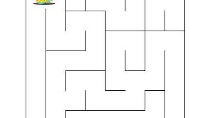 Le labyrinthe de pâques facile