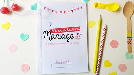 Le cahier d'activités pour enfant à un mariage