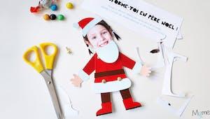 Le pantin Père Noël à imprimer et personnaliser