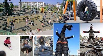 Le parc Nishi Rokugo, le parc en Pneu !