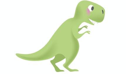 Le petit dinosaure vert qui avait mangé trop de bonbons rouges