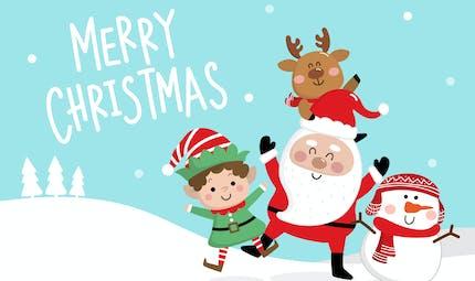 Le petit garçon et le père Noël