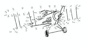 Le Petit Prince : l'Avion en points à relier