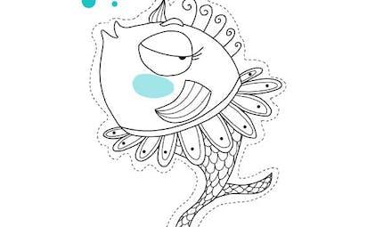 Poisson d'avril Danseuse à imprimer