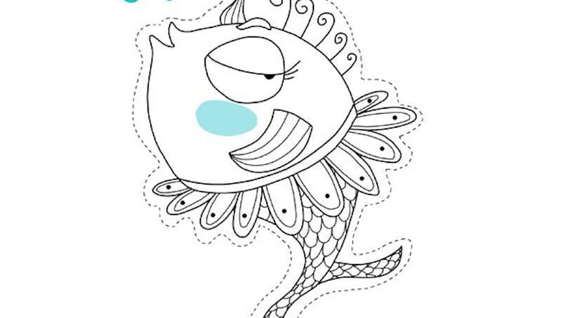Le poisson d'avril Danseuse à imprimer