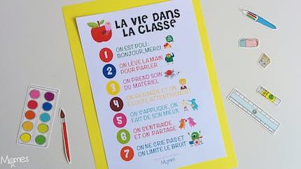 Le poster des règles de vie en classe
