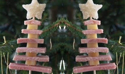 Le sapin de Noël jambon-fromage