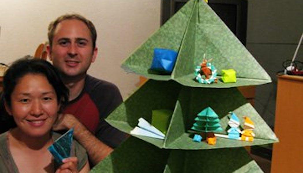 Le sapin de noel origami
