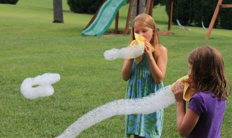 Le serpent de bulles