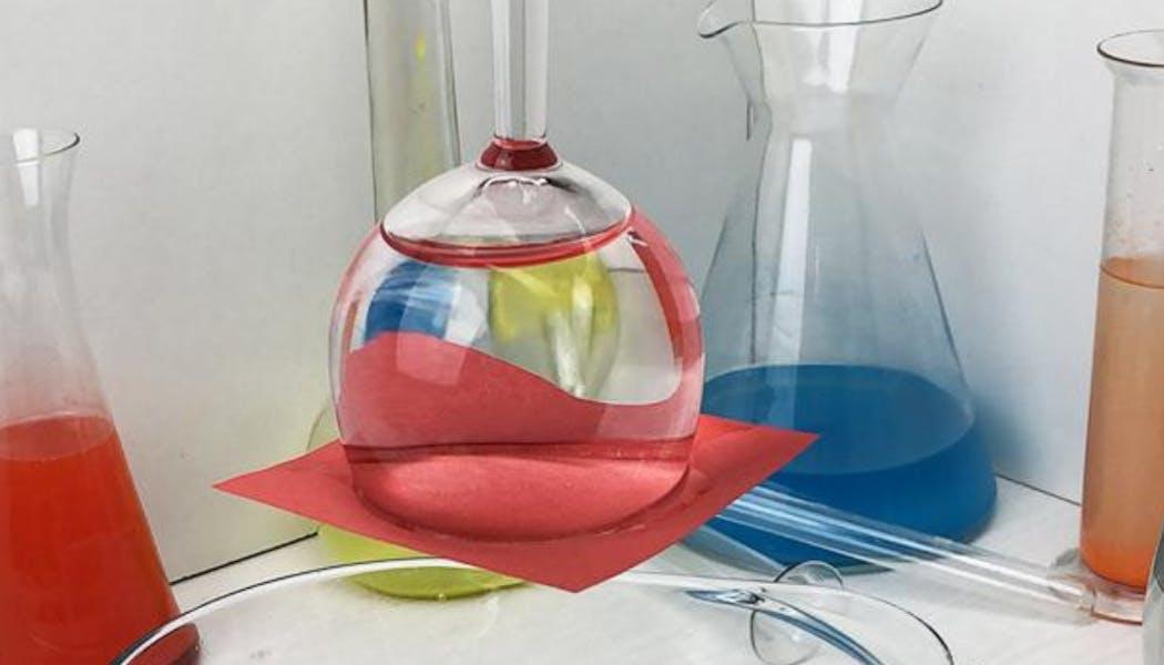 Le verre à l'envers