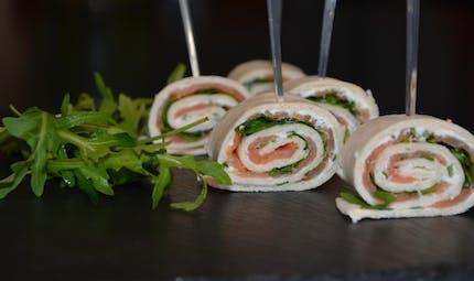 Le wrap au saumon fumé et au Kiri, une super recette estivale