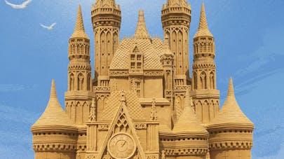 châteaux de sable plage ostende sand city belgique