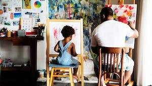 Les artistes débutants, un poème sur l'art de créer