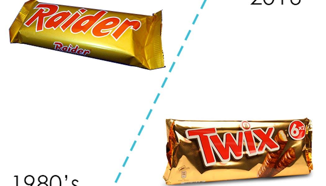 Les barres chocolatées Twix