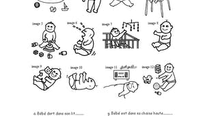 Les bébés : exercice d'observation