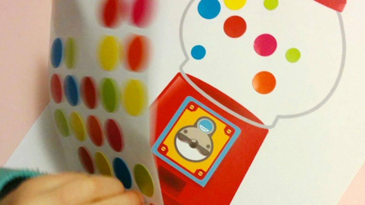 jeu bubble gum gommette