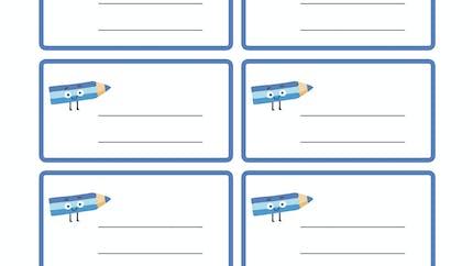 Les étiquettes à imprimer bleu