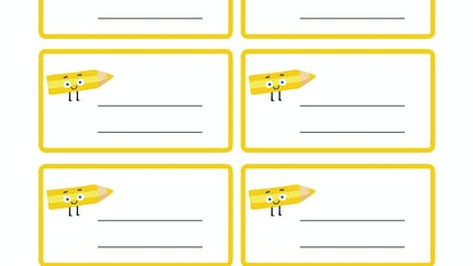 Les étiquettes à imprimer jaune