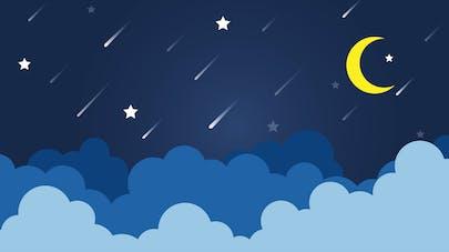 étoiles au-dessus des nuages