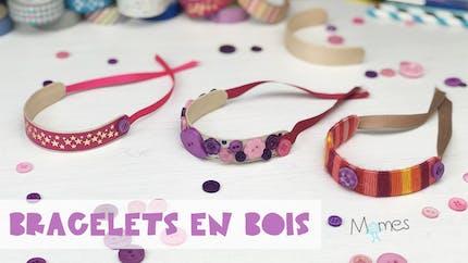 Les jolis bracelets en bois