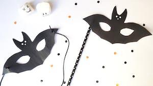 Les masques du Carnaval: le masque de chauve-souris