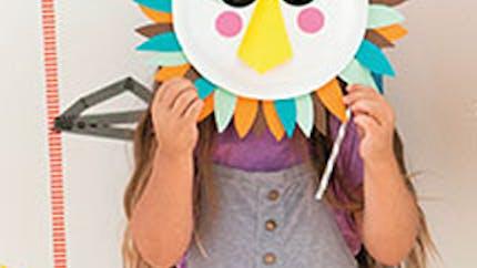 Les masques en assiette en carton