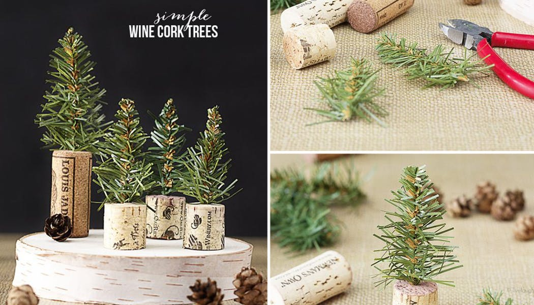 idées décorations Noël rapides simples faciles         dernière minute mini sapins de Noël