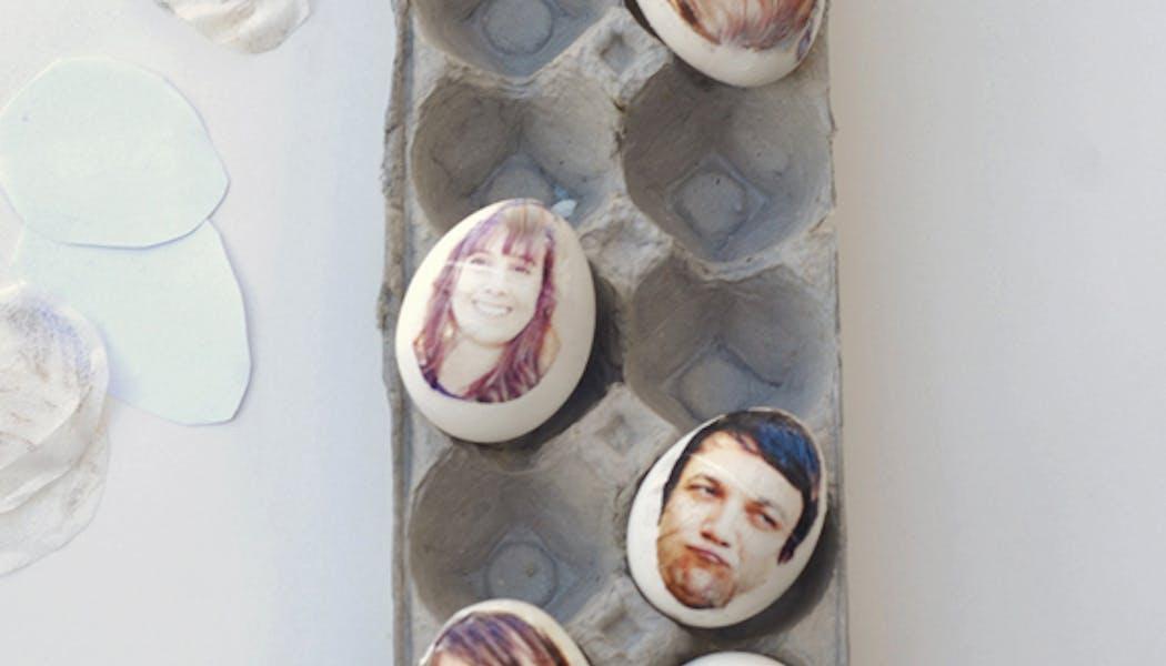 Les oeufs de Pâques portraits de famille