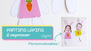 Les pantins lapins de Pâques