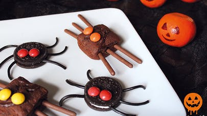 petites bêtes halloween oreo et brownies chocolat