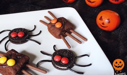Les petites bêtes d'Halloween, aux biscuits Oreo et aux brownies