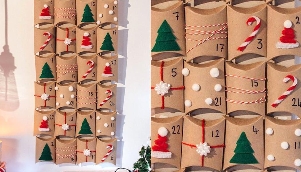 calendriers de l'avent fait maison calendrier         village