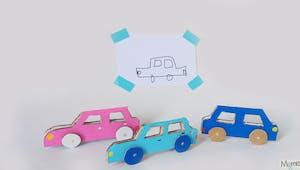 Les petites voitures en carton