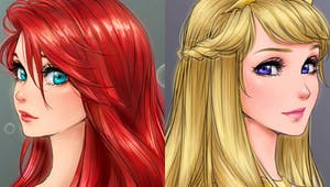 Les princesses Disney version Manga