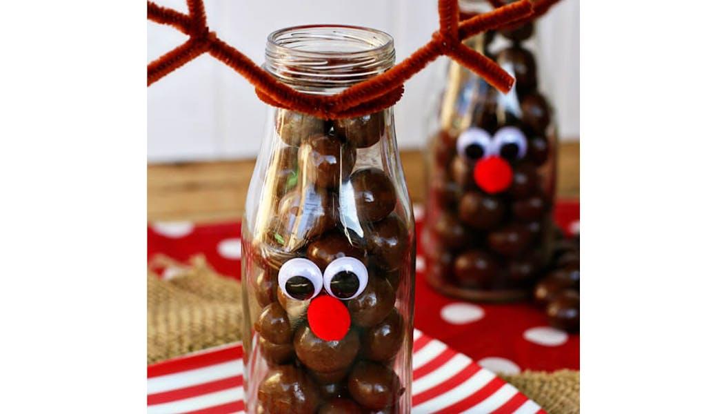 idées cadeaux Noël DIY bricolages faire soi-même les         rennes gourmands
